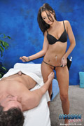 Hot And Sexy Brunette Fucks And Sucks Her Massage Patient - Picture 10