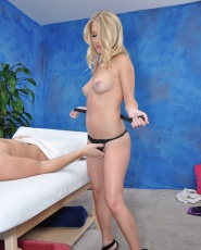 Cute 18 Year Old Massage Therapist Casi James Gives A Little More Than A Massage - Picture 9