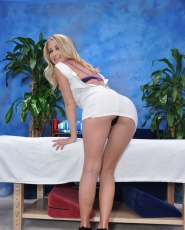 Cute 18 Year Old Massage Therapist Casi James Gives A Little More Than A Massage - Picture 2