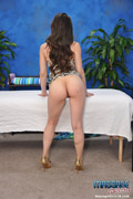 Cute 18 Year Old Brunette Gives A Sensual Massage With A Happy Ending! - Picture 4